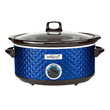 Brentwood Select SC-157N 7 Quart Slow Cooker, Navy Blue