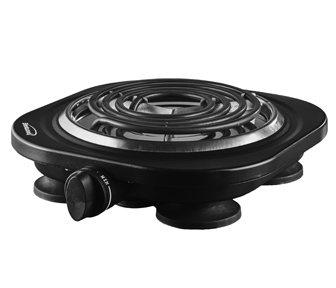 (TS-321BK) Electric 1000W Single Burner Black