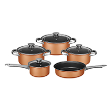 Coming Soon - Brentwood BPS-309C 9-Piece Non-Stick Cookware Set, Copper