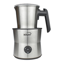 Brentwood GA-401S Cordless Electric Milk Frother, Warmer, and Hot Chocolate Maker, 300ml Capacity, Stainless Steel