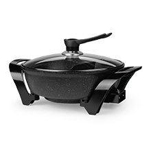 Brentwood SK-72BK 1600-Watt Electric Non-Stick Shabu Shabu Hot Pot, Black