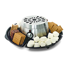 Coming Soon - Brentwood TS-603 Indoor Electric Stainless Steel S'mores Maker with 4 Trays and 4 Roasting Forks